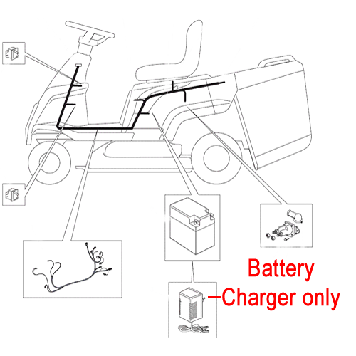 Mountfield Ride On Battery Charger 182180053/0