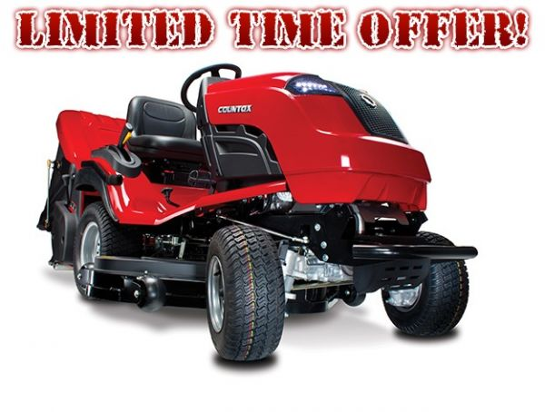 "Countax B65-4TRAC tractor including 42"" XRD cutter deck and powered grass collector"