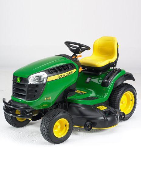 John Deere X166 Ride On Garden Tractor