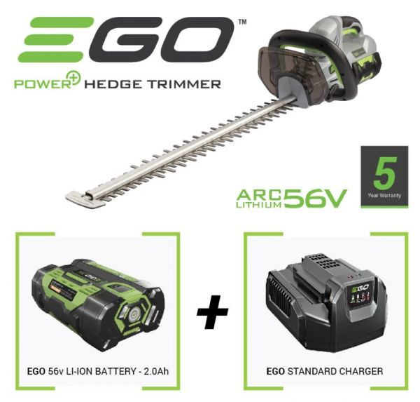 "Ego HT2400 56V Power+ 24"" Cordless Hedge Trimmer (1 x 2Ah battery & charger)"